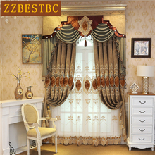 Europe royal 3D embroidered Classic luxury Curtains for  living room high quality Voile Curtain villa window Treatment