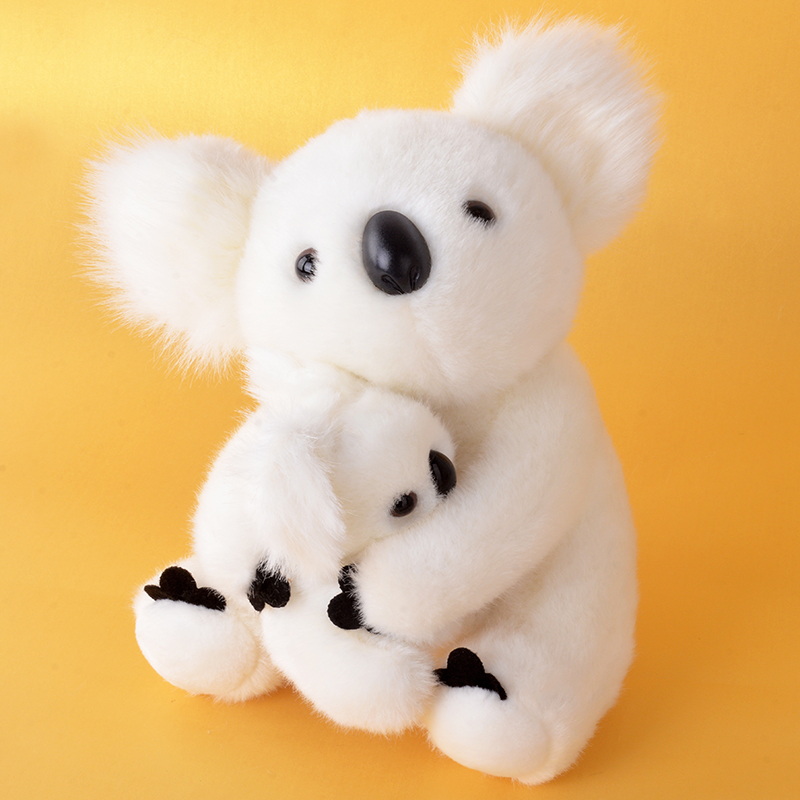 Stuffed Animal Dolls Collection Cute Toys White Plush Koala Cartoon Motherchild for Baby Kids Boys and Girls Gifts 11*9 2free shipping 2015 super cutebald eagle dolls plush toys simulation model of wildlife cute baby gifts kids toys