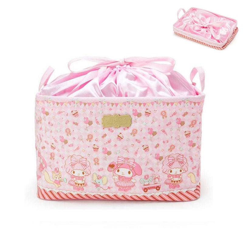 Hello Kitty And My Melody Drawstring Makeup Bag 2018 News Cosmetic Bag Cartoon Japan Style Travel Pouch High Capacity