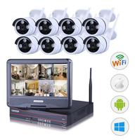 8CH NVR WIFI CCTV Security Camera System 8PCS 1080P HD Outdoor Wireless CCTV Kit Video Surveillance