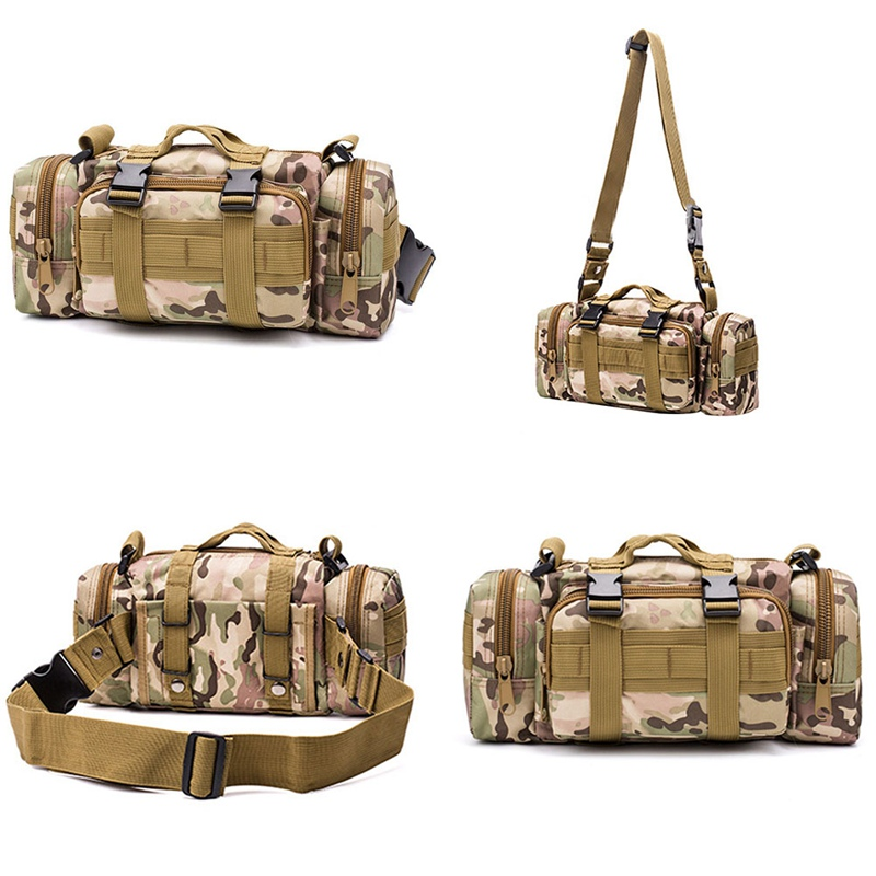Tactical Bag Safe Outdoor  Bags Waterproof Oxford Military Waist Pack  Outdoor Pouch Bag Durable Backpack For Camping Hiking