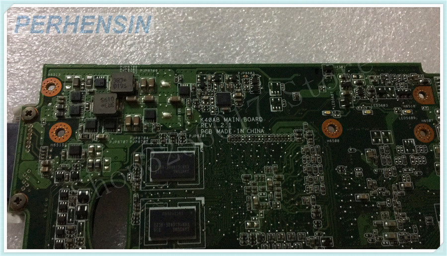 For ASUS K40AB Laptop MOTHERBOARD REV 2.1  100% WORK PERFECTLY ipc motherboard sbc81206 rev a3 rc 100