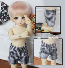 1/6 scale BJD doll clothing accessory Plaid shorts for BJD YOSD BB.Not included doll,shoes,wig and other 17C3626