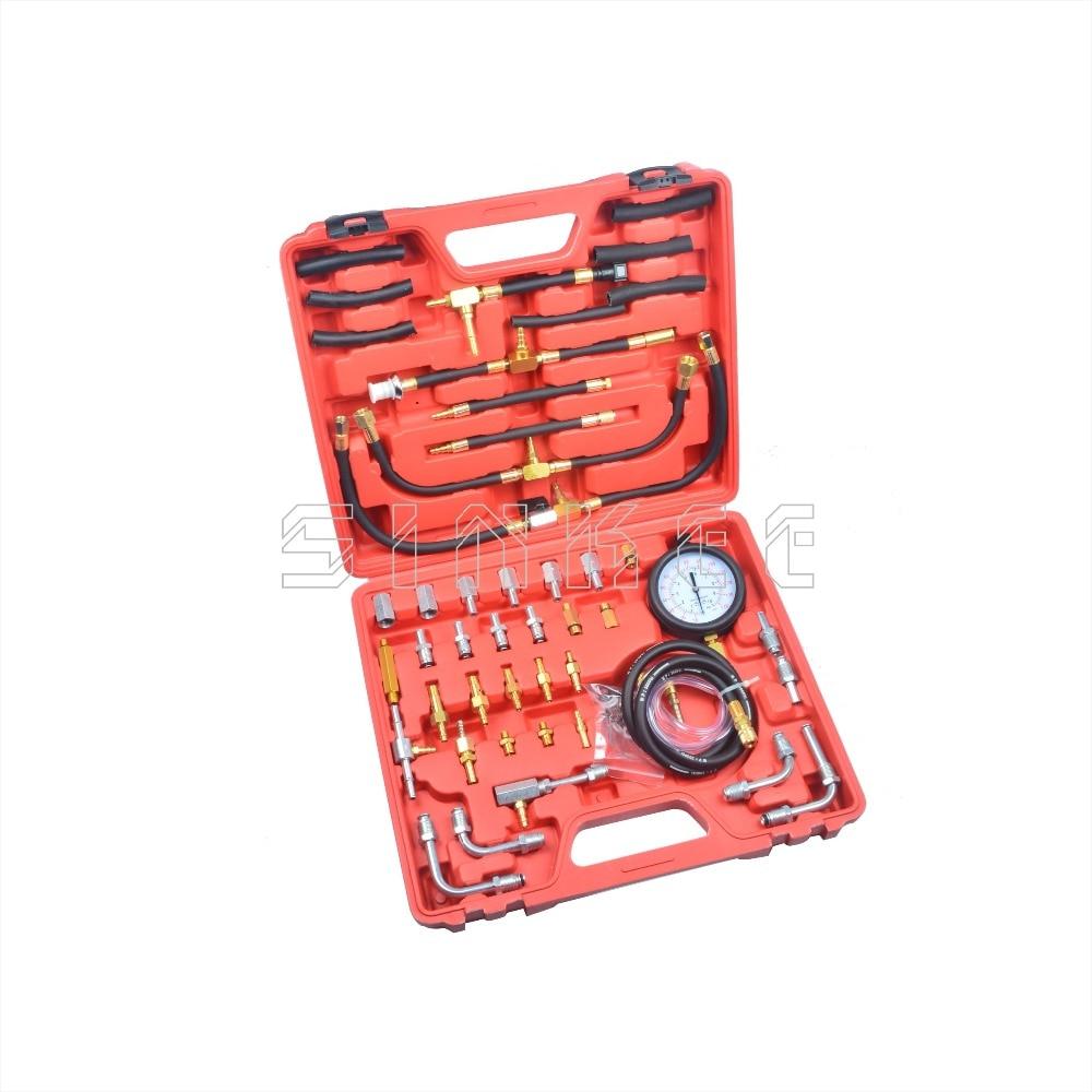 Car Fuel Injection Pump Tester Injector Pressure Test Gauge Diagnostic Tool Kit For Audi BMW Fiat Ford Mercedes Benz SK1266