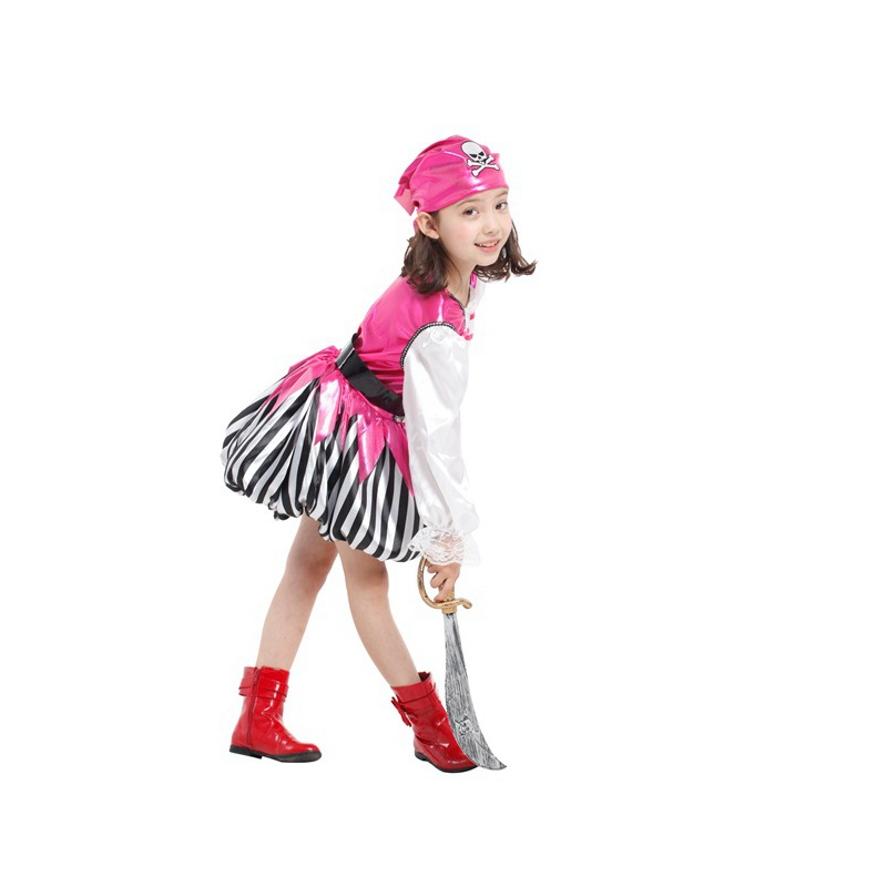 Halloween Children's Costumes Little Girl Shows Clothes Pirate Character Dress Up Performance Clothes