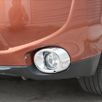 2 sztuk/zestaw ABS Chrome przednie światła przeciwmgielne zmodyfikowany wykończenia dekoracji pokrywy skrzynka dla Mitsubishi Outlander 2013-2017 samochodów stylizacji