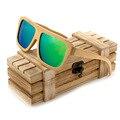 BOBO G003-1 PÁSSARO de Bambu Quadrado Armação de óculos Homens Marca Óculos De Sol Óculos de Lente Polarizada Verde Pernas Ajustáveis Ao Ar Livre Eyewear