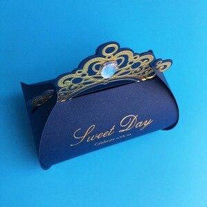 Image 5 - Kırmızı düğün Favor kutuları 100 adet düğün şeker kutusu taklidi kağıt hediye kutusu noel çikolata kutusu bebek duş doğum günü partisi