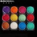 12 Colores Brillo Espejo Polvo Polvo Efecto Cromo Pigmento Del Arte Del Clavo Glitters DIY Nail-Art de Herramientas de Manicura 2 g/caja nueva Caliente