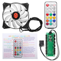 High Quality 120mm CPU Fan RGB Adjustable LED Cooling Fan Cooler 12V Computer Case Radiator Heatsink