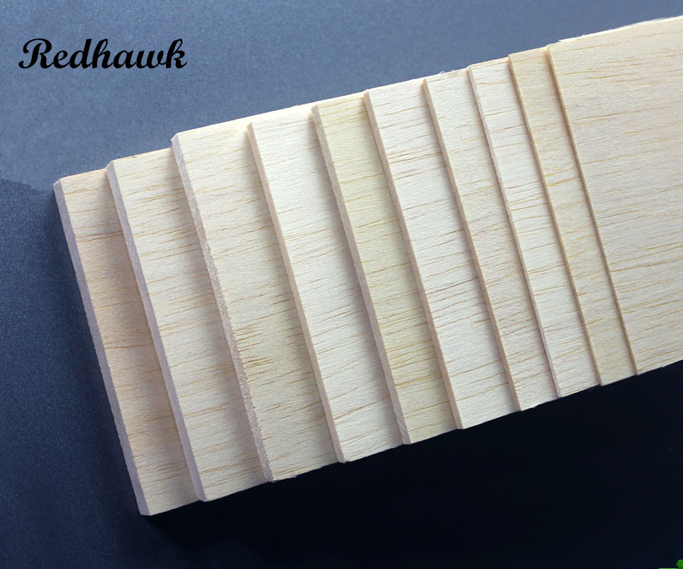 500x80x2/3/4/5/6/8/10mm EXCELLENT QUALITY Model Balsa wood sheets for DIY airplane boat model material free shipping