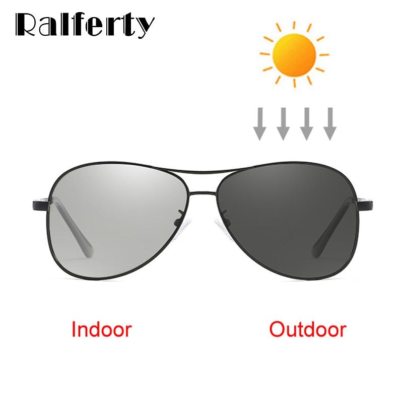 Ralferty Classic Pilot Fotocromatiche Occhiali Da Sole Polarizzati Uomini UV400 di Alta Qualità Occhiali da sole del Driver di Sesso Maschile 2018 Chameleon Occhiali X7750