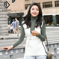 2018 Autumn And Winter New Arrival Women's Knitting Fashion Turtleneck Tops And Elegance Wool Tanks Two Piece Sets Hots S80405L