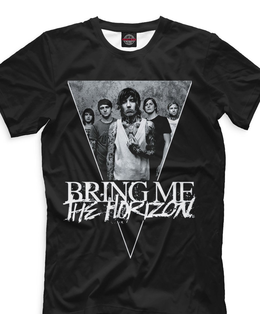 Bring Me The Horizon T Shirt Black Color Fan Tee Men Short Sleeves T Shirt