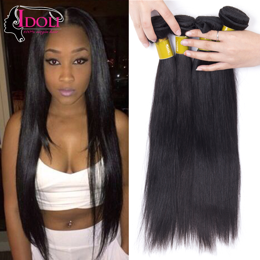 Idoli Hair Products Malaysian Straight Hair 4 Bundle Deals Malaysian