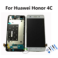 Original LCD For Huawei Honor 4C LCD Display Touch Screen with Digitizer Assembly with Frame ,Tools White Black Gold Color
