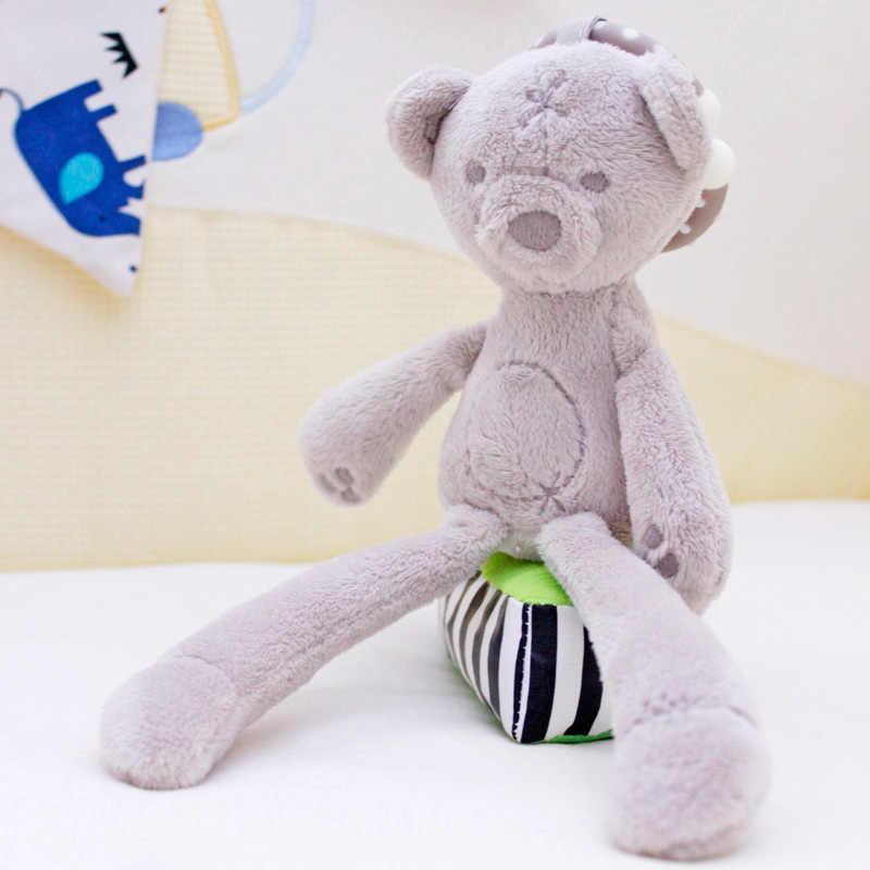 Милая Детская кроватка коляска игрушка кролик Банни Медведь Мягкая Плюшевая Детская кукла Мобильная кровать коляска малыш животное подвесное кольцо цвет случайный