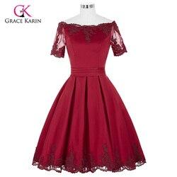 Short cocktail dresses 2017 grace karin off the shoulder robe de cocktail wedding party dress satin.jpg 250x250