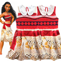 Children Moana Costume Princess Cosplay Costume Fancy Dress Halloween Costumes Birthday Party For Kids Girls Gift