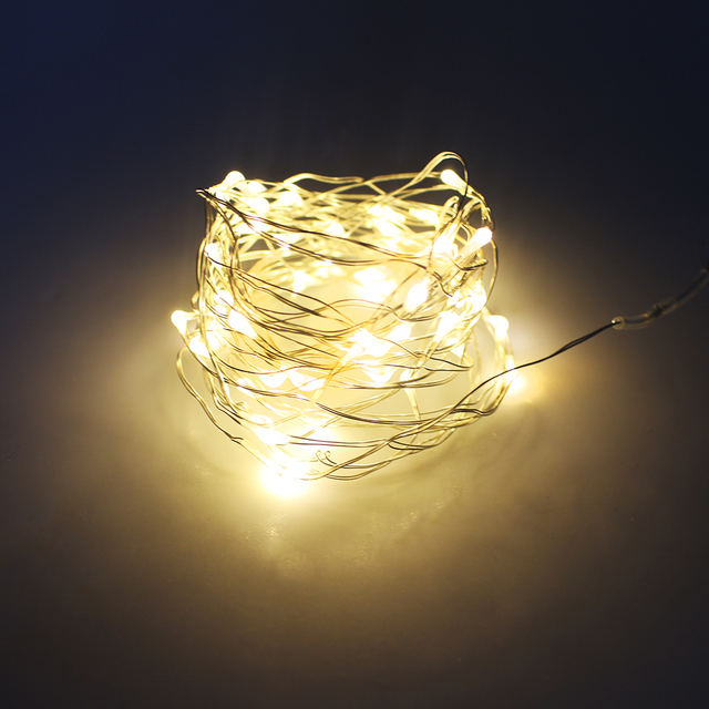 2m 20leds Led String Lights Battery Operated Copper Wire Fairy Lighting For Christmas Garden Patio Wedding Holiday Decorations