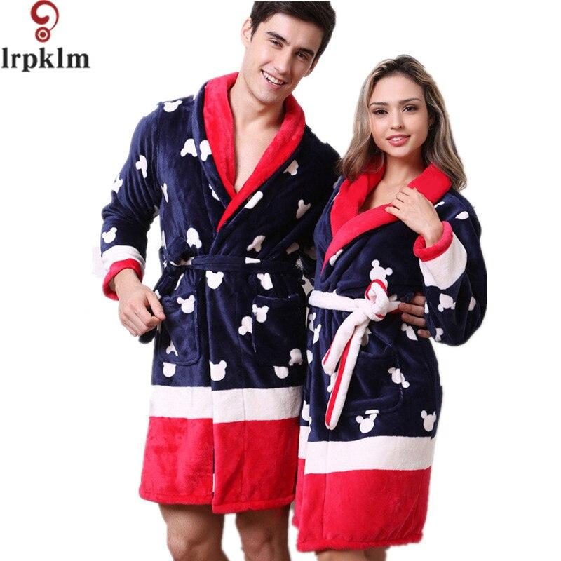 Fashion New Adult Girls Print bathrobes Women Winter Robes Sexy Pajamas Flannel Folder Cotton Nightgown M-XXL SY816