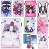 New Arrival 3D Painted Printing Flip Wallet Card Slot PU Leather Stand Case Cover For Samsung