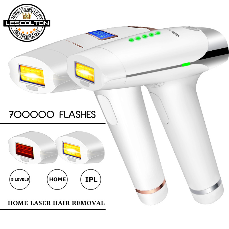 Lescolton 3in1 700000 Pulsed IPL Laser Hair Removal Device Permanent Hair Removal IPL Laser Epilator Armpit Hair Removal Machine-in Epilators from Home Appliances