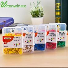 New 300 pcs/lot Colored Cork Thumbtacks Push Pins Decorative Thumb Tacks Board Pushpins Stationery Pin Office School Supplies