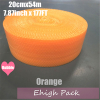 0.2*54m Orange Heart shape Air Bubble Roll Party Favors And Gifts Packing Foam Roll Wedding Decoration Emballage Bulle Warp