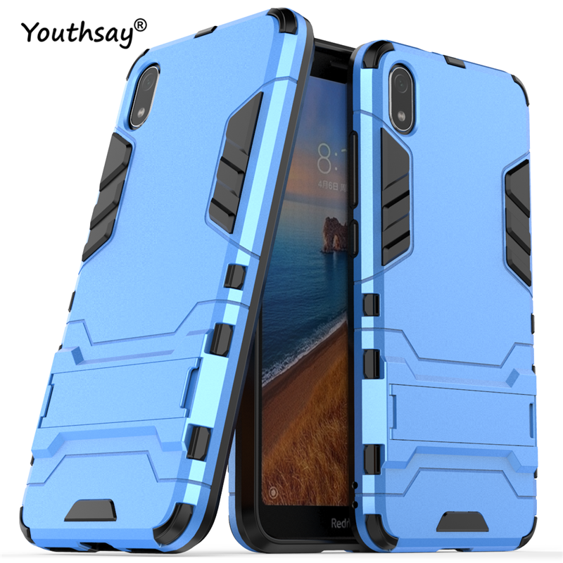 For Xiaomi Redmi 7A Case Luxury Robot Hard Back Fundas Phone Cover