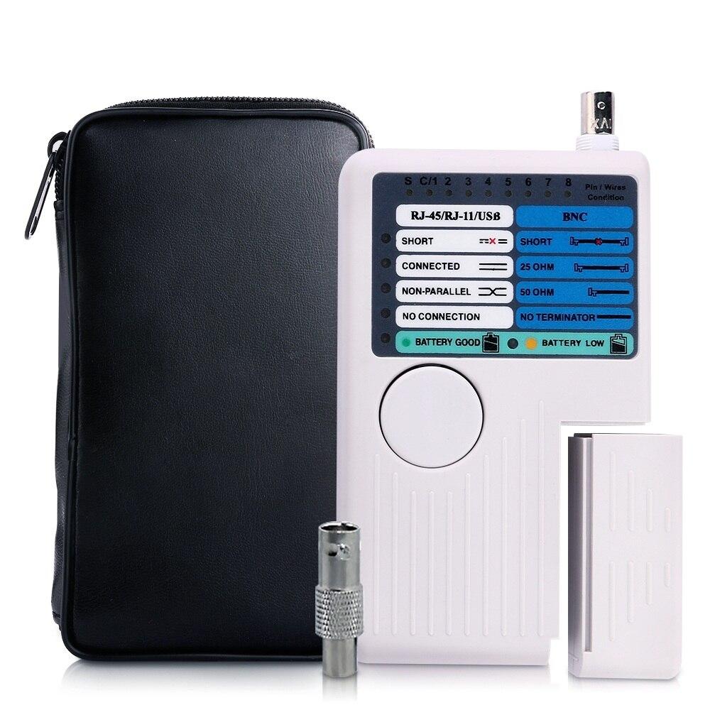 Nouveau testeur de câble réseau Ethernet Portable à distance RJ11 RJ45 USB BNC LAN pour Kit d'outils de détecteur de traqueur de câbles LAN UTP STP