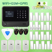 Wireless GSM Alarme Systems WIFI Alarm Touchscreen G90B Android IOS APP control, 5 Language Switchable, DHL Free Shipping