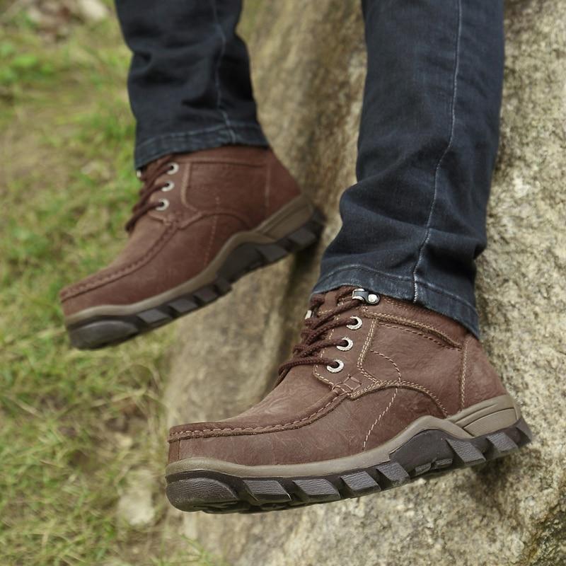 38 Grande En Pour 2018 Bottines dark Brown De Homme Bois Khaki Chaussures Bottes Hommes 47 Militaire Casual Véritable Terre Brown Neige light Cuir Hiver Taille QdsrxtCh