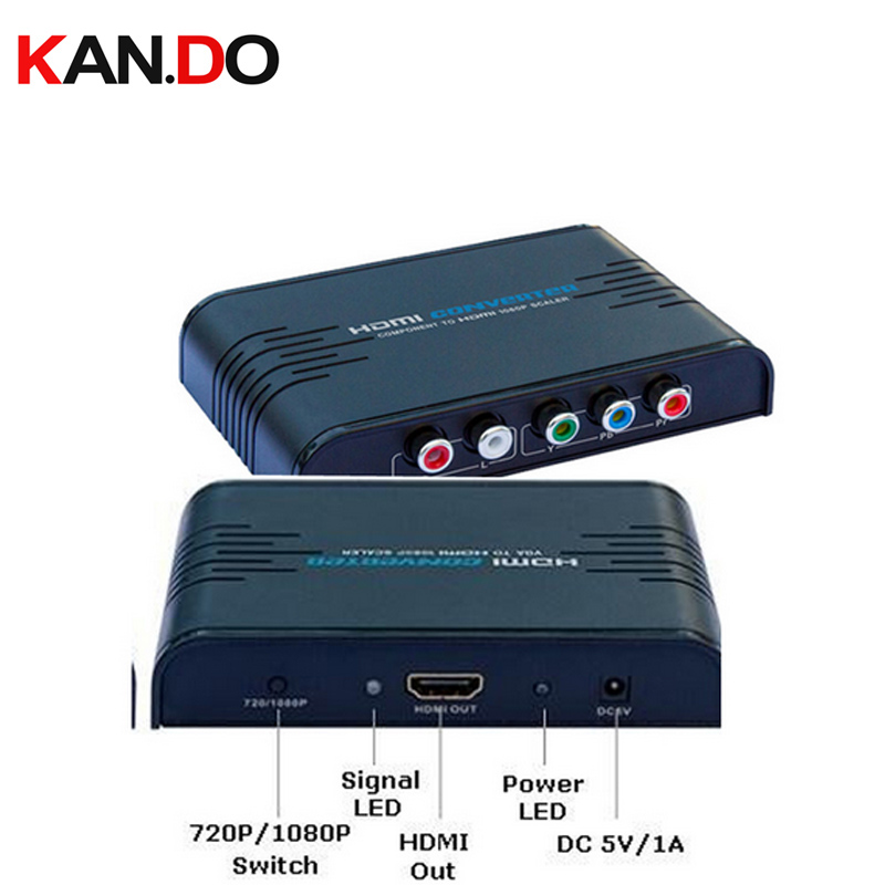 356 Component(YPbPr) to HDMI 720P/1080P Video Converter,Component video to HDMI 1080P Upscaler component video HDMI adapter av to hdmi converter rca component analog audio video to hdmi adapter fhd 720p 1080p optional up scaller av2hdmi mt viki ah312