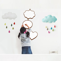 Baby Mobile Nursery Crib Hanging Mobile Material Package 45CM Cloud Drop Shape Felt Cloth EPE MAT