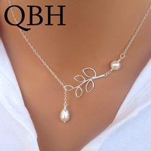ee6e110d1dff NK617 nuevo minimalista de imitación de perlas colgantes Collares para las  mujeres joyería al por mayor barato borla Cadena de c.