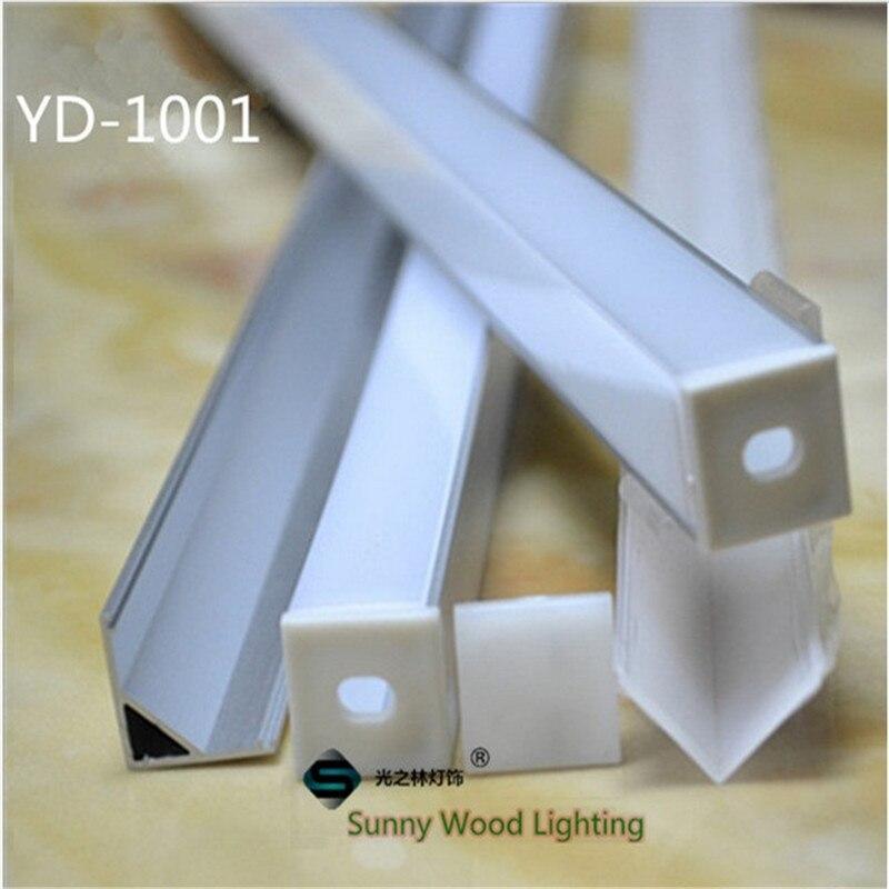 10-40 pz 20-80 m 80 pollici, 2 meters/pc ha condotto il profilo in alluminio, 90 gradi angolo profilo di 10mm bordo del PWB ha condotto la luce bar