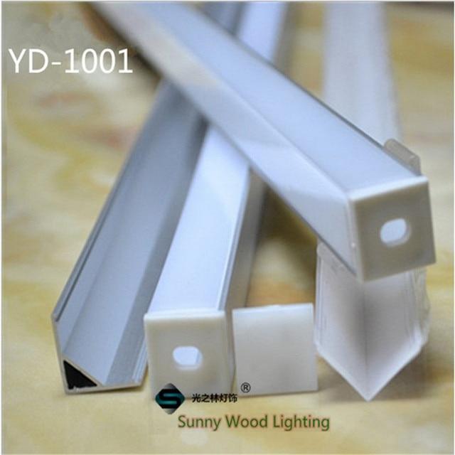 10 40pcs 20 80m 80 אינץ, 2 meters/pc led אלומיניום פרופיל, 90 תואר פינת פרופיל עבור 10mm PCB לוח led בר אור