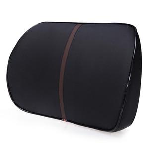 Image 2 - O شي سيارة بولي Leather الجلود الذاكرة القطن مقعد السيارة يدعم مريحة وصحية قطني وسادة وسادة الخصر Thicker وسادة