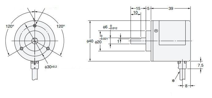 E6B2 CWZ6C 2500 P/R incremental rotary encoder NPN out put