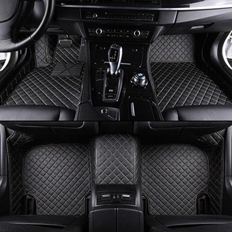 Tapis de sol de voiture sur mesure pour mercedes w204 tous les modèles w205 cla amg w212 w245 glk gla gle gl x164 vito accessoires de tapis de voiture en cuir