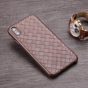 Image 3 - الأزياء المنسوجة نمط جلد طبيعي حالة ل فون XS ماكس/XS/ X/ XR الأصلي الهاتف غطاء ل فون 11 برو XS ماكس عودة حالة