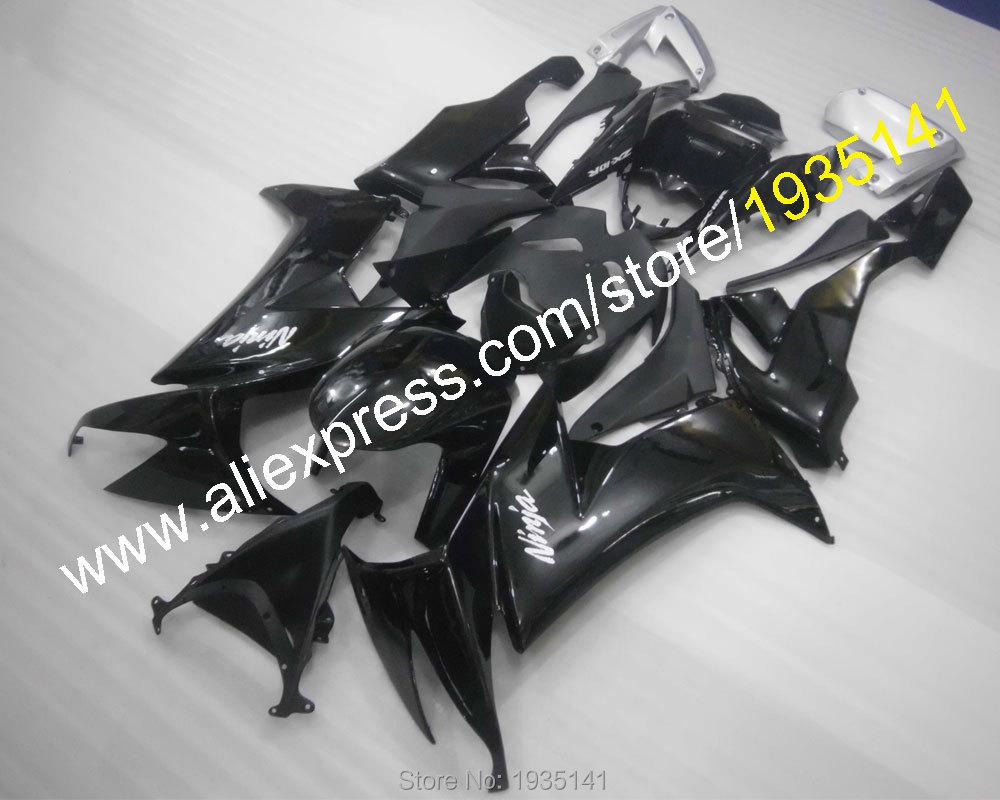 Hot Sales, For Kawasaki Ninja ZX10R Fairing Gloss Black 2008-2010 ZX-10R 08 09 10 ZX 10R ABS Plastic Fairing (Injection molding)