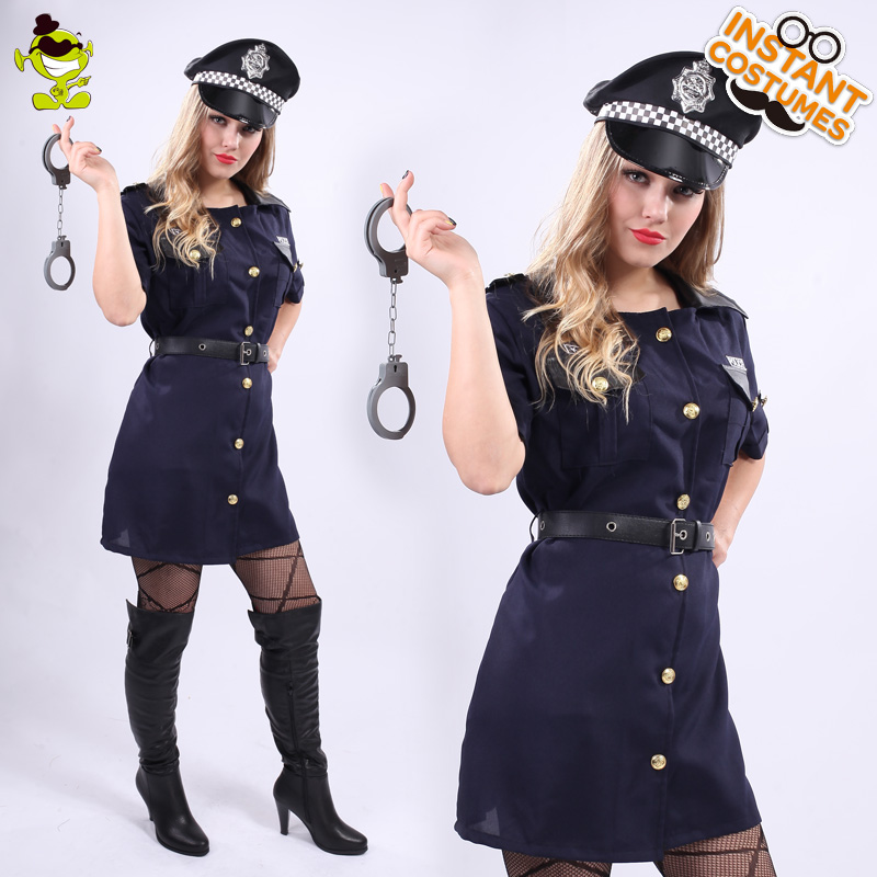 Sexy Policière Costumes Adulte Femmes Carnaval Partie Cool Cop Général Fille Cosplay Fantaisie Robe Féminine Sexy Policier Costumes