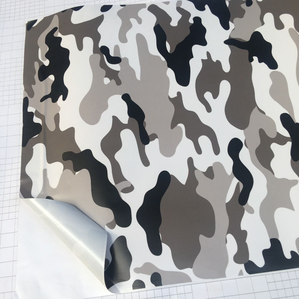 Image 5 - 10/20/30/40/50/58x152CM/Lot Black/White Camo Vinyl Film Snow Camouflage Vinyl Car Wrap Air Bubble Free Snow Camo Wraps-in Car Stickers from Automobiles & Motorcycles