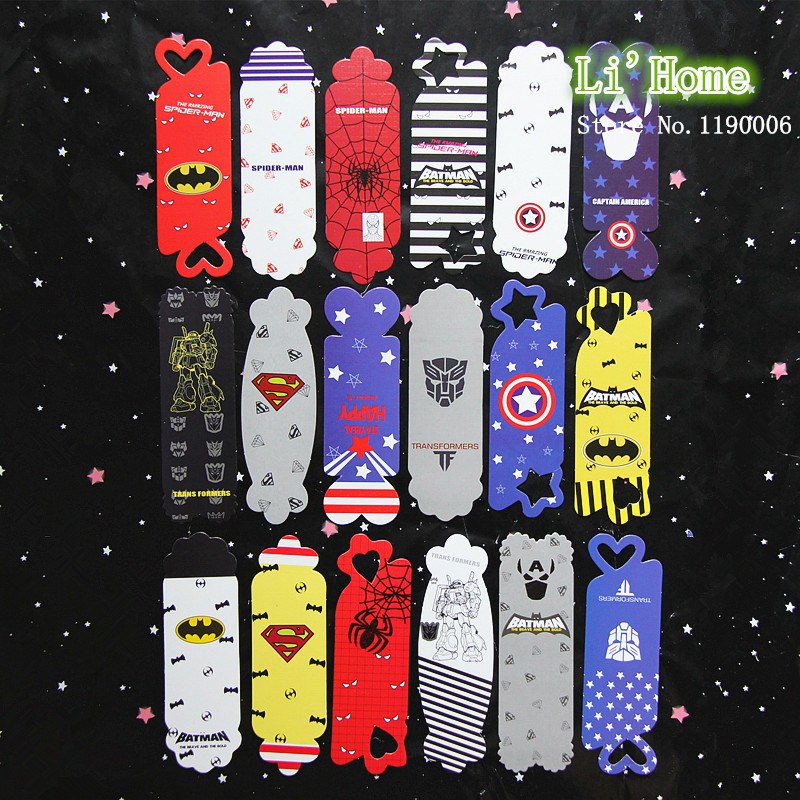 18/Set Cute Interesting Paper Avengers Bookmark Bookmarks For Books Captain America Spider Man Superman Bookmark Office & School