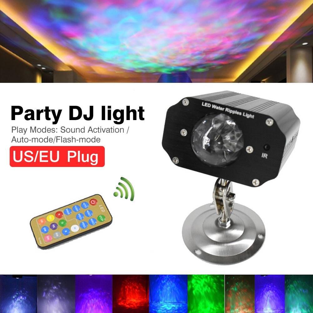 Automatic Color Changing Sound Activiated Color Rotating Stagelight LED Laser Projector Wall Lamp Party DJ Light