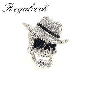 Regalrock cristal Michael Jackson chapeau MJ anneau