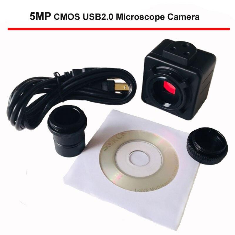 Microscope biologique à grande vitesse, caméra de Microscope USB CMOS 5 mp, pilote électronique numérique sans oculaire, caméra industrielle HD