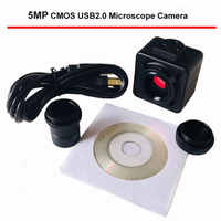 5MP CMOS USB Microscope Camera Digital Electronic Eyepiece Free Driver High Speed Biological Microscope HD Industrial Camera